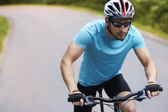 Cyclist in the summer Stock Photo