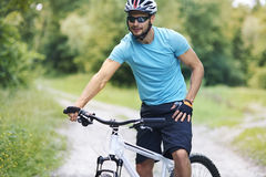 Cyclist in the summer Royalty Free Stock Photography