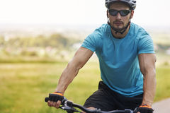 Cyclist in the summer Royalty Free Stock Photo