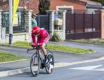The Cyclist Sven Erik Bystrom - Paris-Nice 2016 Royalty Free Stock Photos