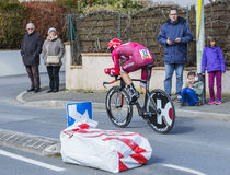 The Cyclist Sven Erik Bystrom - Paris-Nice 2016 Royalty Free Stock Image