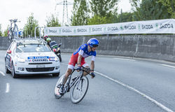 The Cyclist Sylvain Chavane - Tour de France 2014 Stock Photography