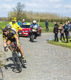 The Cyclist  Sylvain Chavanel - Paris Roubaix 2016 Stock Images