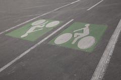Cyclist Symbols Stock Image