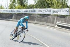 The Cyclist Tanel Kangert - Tour de France 2014 stock photos