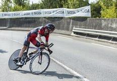 The Cyclist Tejay van Garderen - Tour de France 2014 Royalty Free Stock Photos
