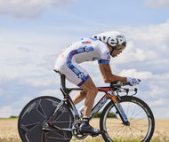 The Cyclist Thibaut Pinot Royalty Free Stock Photography