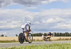 The Cyclist Thibaut Pinot Royalty Free Stock Images
