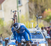 The Cyclist Thierry Hupond - Paris-Nice 2016 Stock Photo