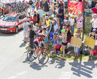 The Cyclist Thomas De Gendt on Col du Glandon - Tour de France 2 Royalty Free Stock Photography