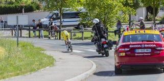 The Cyclist Thomas De Gendt - Criterium du Dauphine 2017 Royalty Free Stock Image