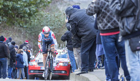 The Cyclist Thomas De Gendt - Paris-Nice 2016 Stock Photos