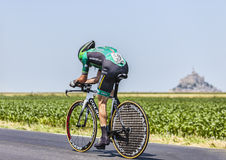 The Cyclist Thomas Voeckler. Ardevon,France-July 10, 2013: The French cyclist Thomas Voeckler from Team Europcar cycling during the stage 11 of the edition 100 Stock Image