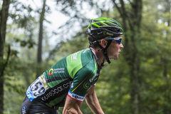 The Cyclist Thomas Voeckler Stock Images