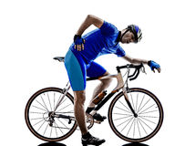 Cyclist tired  silhouette Stock Image