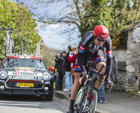 The Cyclist Tobias Ludvigsson - Paris-Nice 2016 Royalty Free Stock Photo