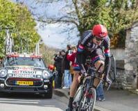 The Cyclist Tobias Ludvigsson - Paris-Nice 2016 Royalty Free Stock Photo
