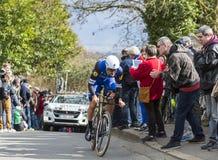 The Cyclist Tom Boonen - Paris-Nice 2016 Royalty Free Stock Photos