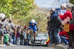 The Cyclist Tom Boonen - Paris-Nice 2016 Stock Photography