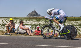 The Cyclist Tom Dumoulin. Le Pont Landais,France-July 10, 2013: The Dutch cyclist Tom Dumoulin from Argos-Shimano Team cycling during the stage 11 of the edition Stock Image