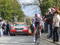 The Cyclist Tony Gallopin - Paris-Nice 2016 Stock Photos