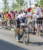 The Cyclist Tony Martin - Tour de France 2015. Utrecht,Netherlands - 04 July 2015: The Germancyclist Tony Martin of Etixx-Quick Step Team riding during the first royalty free stock photos