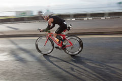 Cyclist, triathlon Royalty Free Stock Images