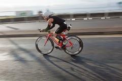 Cyclist, triathlon Royalty Free Stock Images