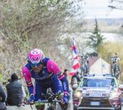 The Cyclist Tsgabu Gebremaryam Grmay - Paris-Nice 2016 Royalty Free Stock Photos