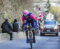 The Cyclist Tsgabu Gebremaryam Grmay - Paris-Nice 2016 Royalty Free Stock Images
