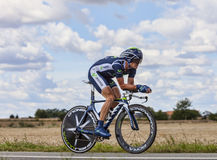 The Cyclist Vasili Kiryienka Royalty Free Stock Images
