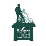 Cyclist. Vector illustration. Authors illustration in Vector Illustration