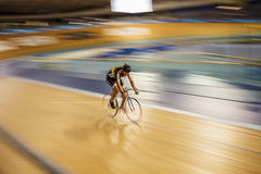 Cyclist in Velodrome Royalty Free Stock Photography