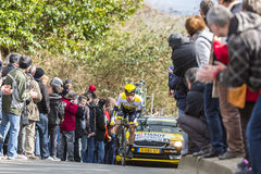 The Cyclist Victor Campenaerts - Paris-Nice 2016 Royalty Free Stock Images