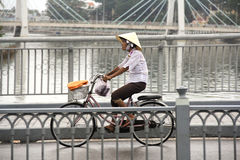 Cyclist in Vietnam Royalty Free Stock Photography
