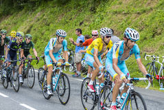 The Cyclist Vincenzo Nibali in Yellow Jersey - Tour de France 20 Stock Image