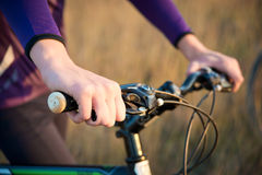 Cyclist. wheelman Royalty Free Stock Images