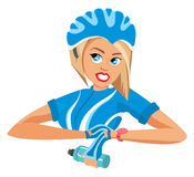 Cyclist woman Royalty Free Stock Photography
