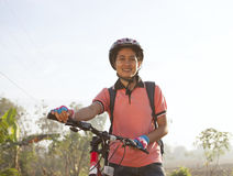 Cyclist woman Royalty Free Stock Images