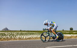 The Cyclist Wouter Poels Stock Image