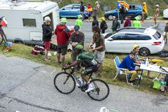 The Cyclist Yohann Gene - Tour de France 2015 Royalty Free Stock Photography