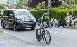 The Cyclist Yukiya Arashiro - Tour de France 2014 Stock Images