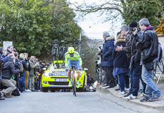 The Cyclist Yuri Viktorovich Trofimov - Paris-Nice 2016 Royalty Free Stock Image