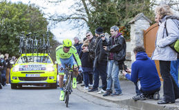 The Cyclist Yuri Viktorovich Trofimov - Paris-Nice 2016 Royalty Free Stock Photo