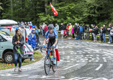 The Cyclist Zakkari Dempster - Tour de France 2014 Stock Photography