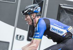 The Cyclist Zakkari Dempster - Tour de France 2014. Le Markstein, France- July 13, 2014: The Australian cyclist Zakkari Dempster of NetApp-Endura team climbing Stock Photos