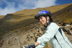Cycliste Photo libre de droits