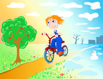Cycliste. Image libre de droits