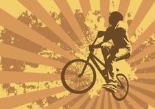 Cycliste illustration de vecteur