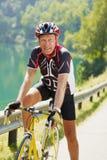 Cycliste aîné Photos libres de droits